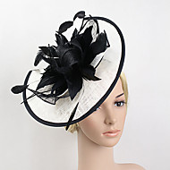 cheap Wedding Headpieces-Feather Net Fascinators 1 Wedding Special Occasion Headpiece