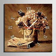 E-HOME® Notebook And Flower Clock in Canvas 1pcs