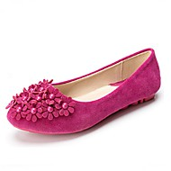 cheap Women's Flats-Women's Leatherette Spring / Summer Comfort Flats Walking Shoes Flat Heel Imitation Pearl Purple / Fuchsia / Pink