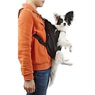 Kočka Pes přenosné a cestovní hrabice přední Batoh Domácí mazlíčci košíky Jednobarevné Přenosný Prodyšné Černá Oranžová Červená Modrá