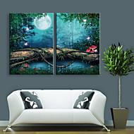 Landschap Canvas Afdrukken Twee panelen Klaar te hangen , Verticaal