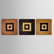 billiga Stilleben-Hang målad oljemålning HANDMÅLAD - Abstrakt / Stilleben Klassisk / Europeisk Stil Duk / Tre paneler