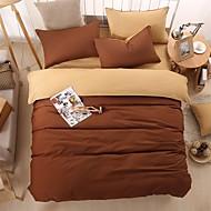 布団カバーセット 純色 4個 反応染料 1×布団カバー 2×枕カバー 1×フラットシーツ