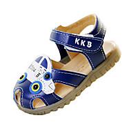 Gutter-PU-Flat hæl-Rund tå / Sandaler-Sandaler-Fritid-Blå / Hvit
