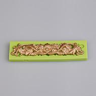 Europe type stil 3d silikon stripe form kake baking silikon mold kjøkken verktøy farge tilfeldig