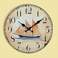 Moderne / Nutidig Andre Wall Clock,Rund Andre 30*30cm*3cm Innendørs Klokke