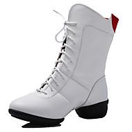 baratos Sapatilhas de Dança-Mulheres Sapatos de Dança Moderna / Botas de Dança Courino Botas / Meia Solas Cadarço Salto Baixo Não Personalizável Sapatos de Dança