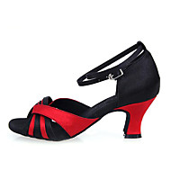 Kan ikke spesialtilpasses-Dame-Dansesko-Latinamerikansk / Dansesko-Kunstlær-Tykk hæl-Svart