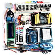 funduino avanceret startpakke lcd servomotor dot matrix breadboard førte grundlæggende element pack kompatible til Arduino