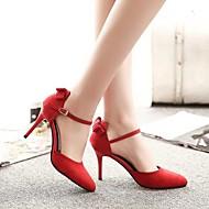 baratos Sapatos Femininos-Feminino Sapatos Borracha Verão Saltos Caminhada Salto Agulha Para Preto Vermelho Verde Escuro