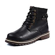 Unisex Pantofi Piele Iarnă Toamnă Confortabili Cizme Dantelă pentru Casual Negru Maro