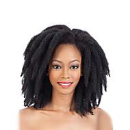 Afro Kinky Synthetisch haar Extentions van mensenhaar Pre-loop Haak Braids haar Vlechten Lang Dagelijks