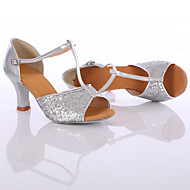 baratos Sapatilhas de Dança-Mulheres Sapatos de Dança Latina / Tênis de Dança Paetês Salto Lantejoulas / Cadarço Salto Personalizado Personalizável Sapatos de Dança