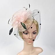 billiga Brudhuvudbonader-fjädernät fascinatorer headpiece elegant klassisk feminin stil