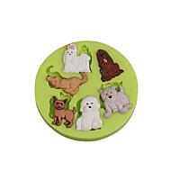 hesapli -Bakeware araçları Silikon Çevre-dostu / Kendin-Yap Kek / Kurabiye / Tart karikatür Şekilli Pişirme Kalıp 1pc