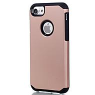 Capinha Para Apple Capinha iPhone 5 iPhone 6 iPhone 7 Antichoque Capa traseira Côr Sólida Rígida PC para iPhone 7 Plus iPhone 7 iPhone 6s