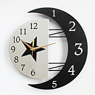 cheap Wall Clocks-Modern/Contemporary Houses Wall ClockOthers Metal / Wood 32*31CM Indoor Clock