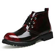 Men's Shoes Nappa Leather Leatherette Winter All Seasons Comfort Formal Shoes Boots Walking Shoes Booties/Ankle Boots Lace-up For Casual