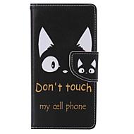 billiga Mobil cases & Skärmskydd-fodral Till Sony Xperia M2 Sony Sony Xperia M5 Sony Xperia X Performance Sony Xperia XA Korthållare Plånbok med stativ Fodral Katt Hårt