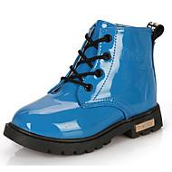 billige High-tops til børn-Pige Sko PU Komfort Støvler for Rosa / Blå / Lys pink