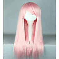 High Quality Costume Hair Synthetic Light Pink Cosplay Wigs 70cm Long Straight Lolita Wig