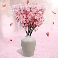 tanie -1 Gałąź Poliester Sakura Bukiety na stół Sztuczne Kwiaty 110