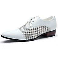 cheap Small Size Shoes-Men's Shoes Leatherette Comfort Oxfords for Casual White Black