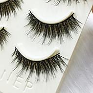 Eyelashes lash Full Strip Lashes Eyes Thick Handmade Fiber Black Band 0.07mm 14mm