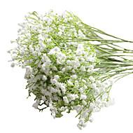 6pcs/Set 6 haara PU Morsiusharso Pöytäkukka Keinotekoinen Flowers 23 inch