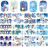 12 designs ,12 different images Nail Art Sticker  Water Transfer Decals Makeup Cosmetic Nail Art Design