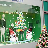 Christmas Shop etalage witte sneeuwpop kleur van de muur stickers 50 * 70cm