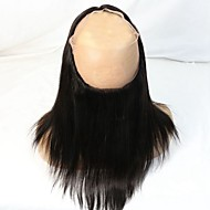 8A Grade Brazilian Virgin Human Hair 360 Full Around Lace Frontal Closure Straight with Natural Hairline