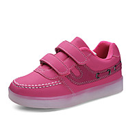 お買い得  LED シューズ-男の子 靴 レザー 秋 コンフォートシューズ / ライトアップシューズ アスレチック・シューズ 面ファスナー のために ホワイト / ブラック / フクシャ
