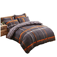 Aloe Cotton Sanding a Family of Four Active Printing and Dyeing Double Quilt   Bedding Set