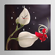 E-HOME® Flower Clock in Canvas 1pcs