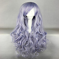 Beautiful Long Curly Wavy Heat Resistant Soft Rozen Maiden Cosplay Wigs Grey Costume Wig