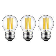 3stk 5W 550lm E26 / E27 LED-glødetrådspærer G45 6 LED Perler COB Varm hvid 220-240V