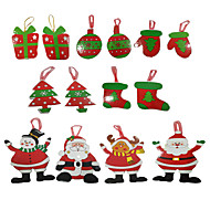 クリスマスカード&タグ Christmas Trees おもちゃ サンタスーツ ペーパー 小品 男の子 女の子 クリスマス カーニバル ギフト