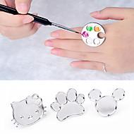søde nail art metal fingerring palet blande akryl gel polish maleri tegning farve maling parabol manicure værktøjer