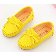 baratos Sapatos de Menina-Para Meninas Sapatos Couro Ecológico Conforto Mocassins e Slip-Ons para Branco / Amarelo / Rosa claro