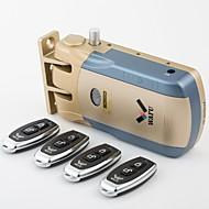 wafu nøkkelfri smart fjernkontroll dørlås &  trådløs usynlig anti-tyveri lås &  sikkerhet dørlås med 4 eksterne tastene