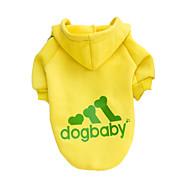 Cachorro Camisola com Capuz Roupas para Cães Fashion Sólido Cinzento Amarelo Vermelho Preto Ocasiões Especiais Para animais de estimação