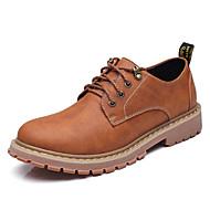 Homme Chaussures Cuir Printemps Automne Confort Oxfords Pour Décontracté Gris Brun claire Brun Foncé