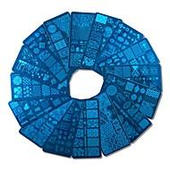 1pcs Nail Art Tool Nail Painting Tools Nail Stamping Tool Skabelon Moderigtigt Design Negle kunst Manicure Pedicure Stilfuld / Professionel / Høj kvalitet / Stempling Plate