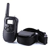 樹皮の首輪 犬しつけようカラー アンチ犬叫 300M リモートコントロール 電子/エレクトリック LCD バイブレーション ソリッド