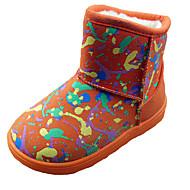 Jenter-Tekstil-Flat hæl-Komfort-Støvler-Formell Fritid-Svart Rosa Rød Oransje