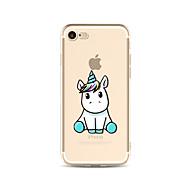 Capinha Para Apple iPhone X iPhone 8 Plus iPhone 7 iPhone 6 Capinha iPhone 5 Translúcido Estampada Capa Traseira Unicórnio Macia TPU para