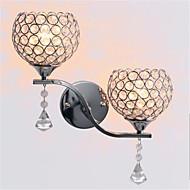 johti modernin minimalistinen olohuoneen käytävällä käytävän Crystal seinä lamppu