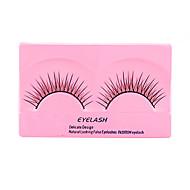 5 Eyelashes lash Full Strip Lashes Eyelash Natural Long Lifted lashes Manual Microfiber Black Band 0.10mm 8mm