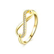 Žene Band Ring Kubični Zirconia Rose Zlatan Zircon Kubični Zirconia Kamen Imitacija dijamanta beskraj Luksuz Moda Europska Vjenčanje